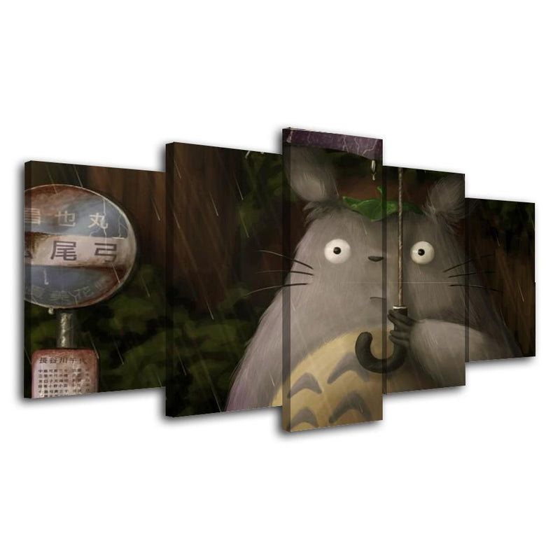 5 Piece Japanese Anime Poster Prints Canvas Picture Totoro Wall Art Cartoon Painting