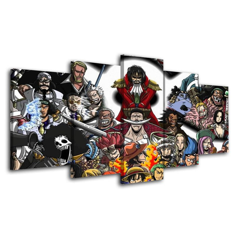 5 Piece Anime Poster Wall Painting One Piece Prints Canvas Art