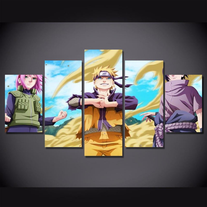 5 Planes Naruto Painting And Prints Anime Wall Poster Cartoon Canvas Picture