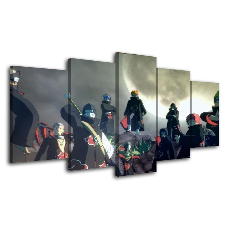 5 Piece Anime Painting Cartoon Canvas Prints Posters  Naruto Picture