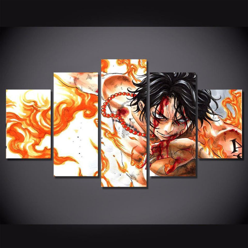 5 Piece Anime Wall Prints Poster One Piece Painting Canvas Picture Home Decor