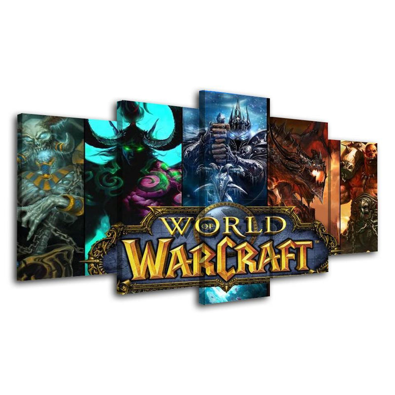 5Piece World Of Warcraft Wall Art Poster Prints Canvas Painting Game Pictures