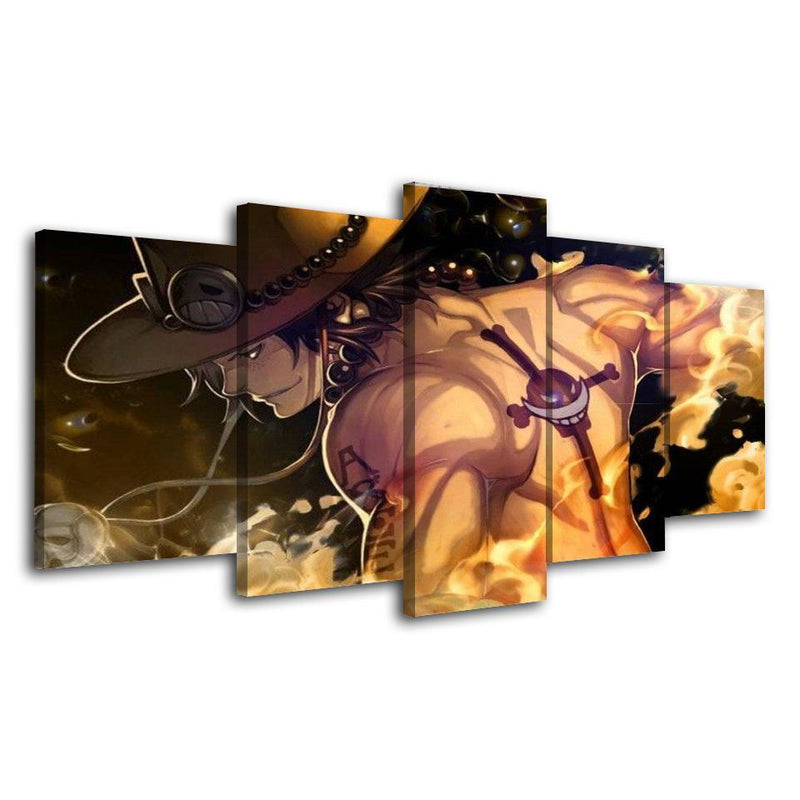 5 Piece Anime Wall Poster One Piece Painting Canvas Prints Picture Home Decor