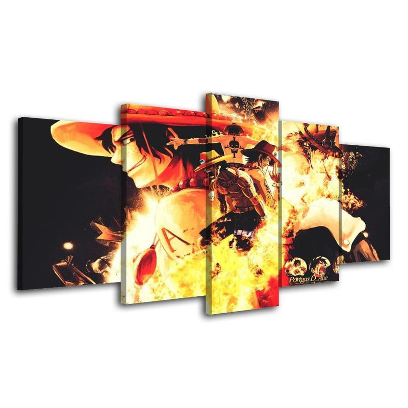 5 Piece Anime Painting Wall Poster One Piece Canvas Prints Picture Home Decor