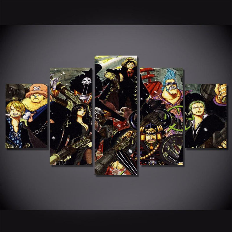 5 Piece One Piece Poster Canvas Art Anime Painting Wall Pictures Prints