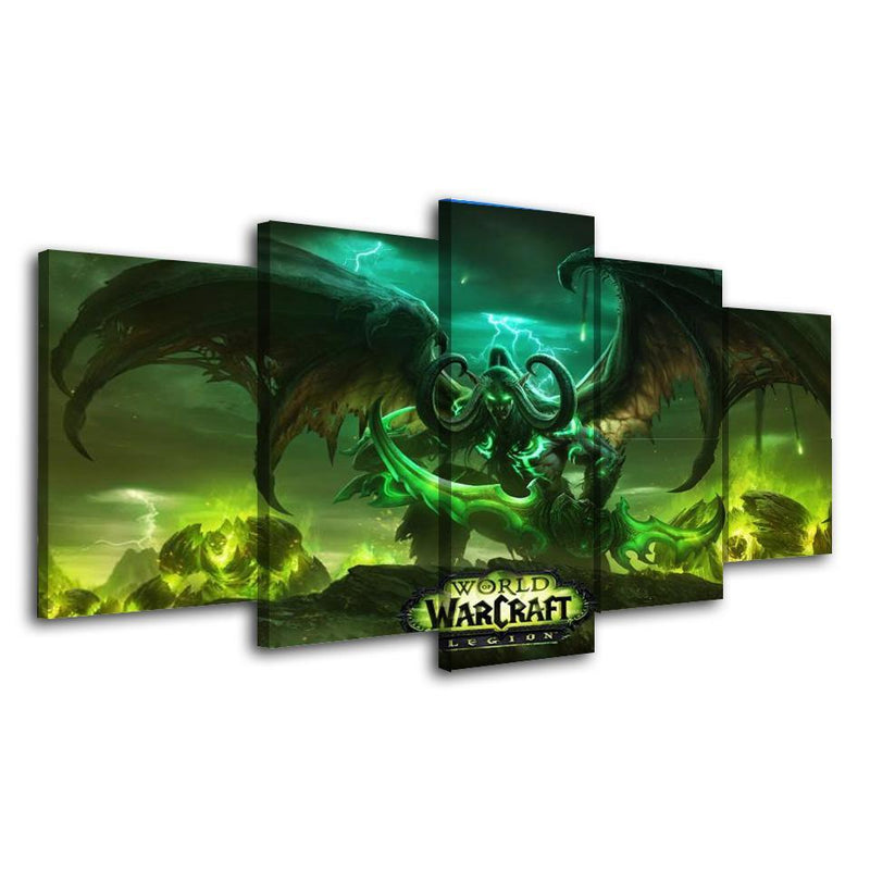 5Piece Game Canvas Wall Art Painting World Of Warcraft Poster Prints