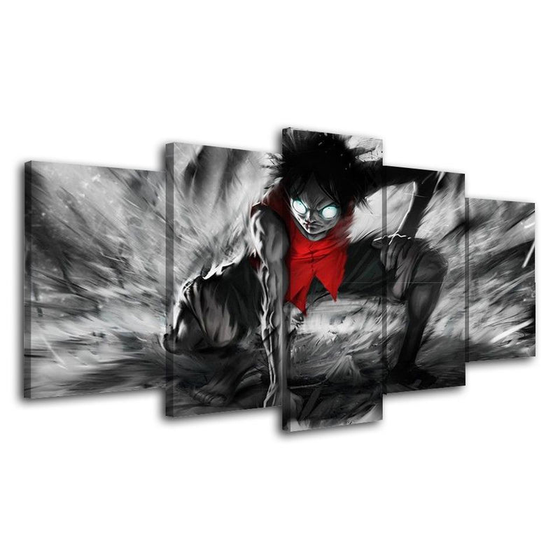 5 Piece One Piece Painting Poster Anime Canvas Art Wall Pictures Prints