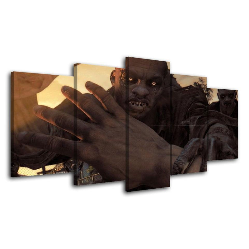 5Piece Game Wall Art Zombie Poster Prints Painting