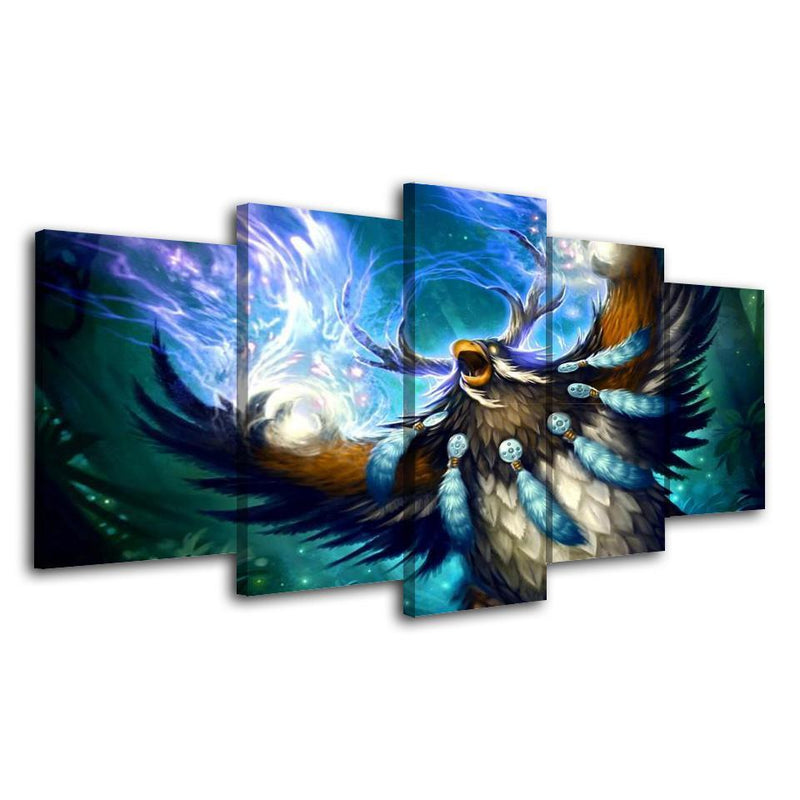 5Piece World Of Warcraft Wall Art Game Painting Prints Canvas Poster