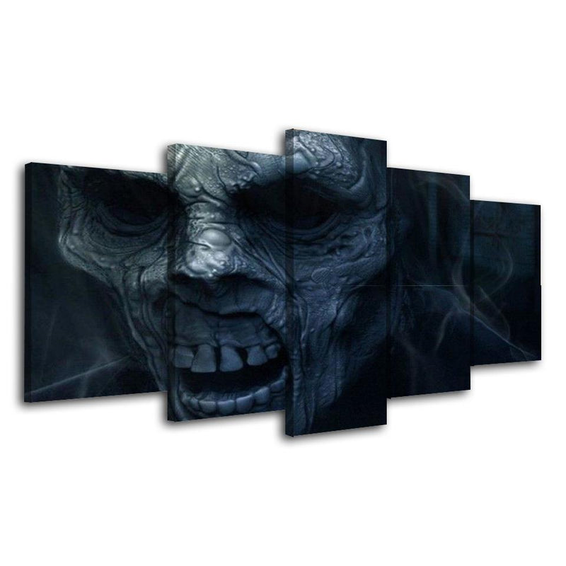5Piece Game Skull Wall Art Zombie Poster Prints Painting