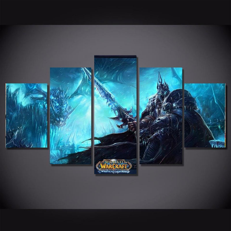 5Piece Game Prints Poster World Of Warcraft Wall Art Painting