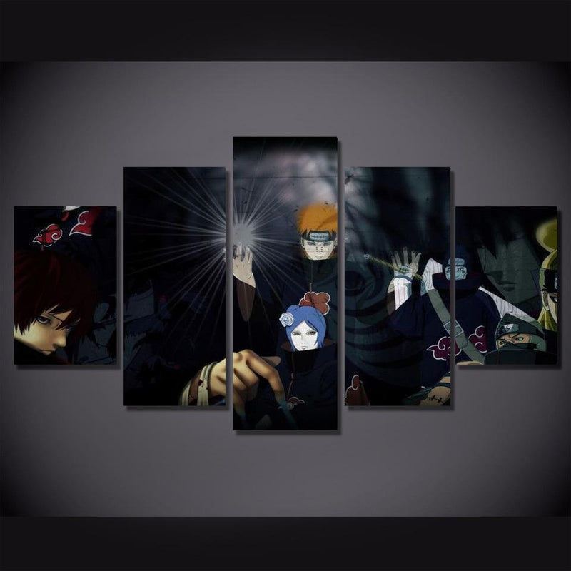 5 Piece Anime Wall Canvas Naruto Art Wall Pictures Poster Prints Painting