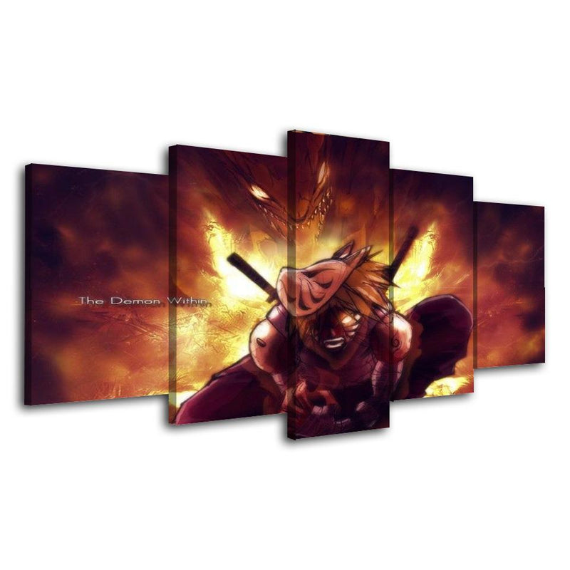5 Piece Anime Poster Prints Naruto Wall Painting Artwork For Room