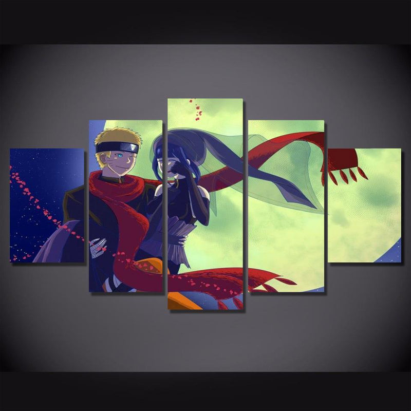 5 Piece Canvas Prints Anime Painting Cartoon Posters Naruto Picture