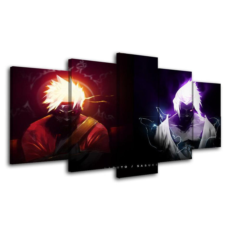 5 Piece Wall Canvas Prints Anime Painting Cartoon Posters Naruto Picture