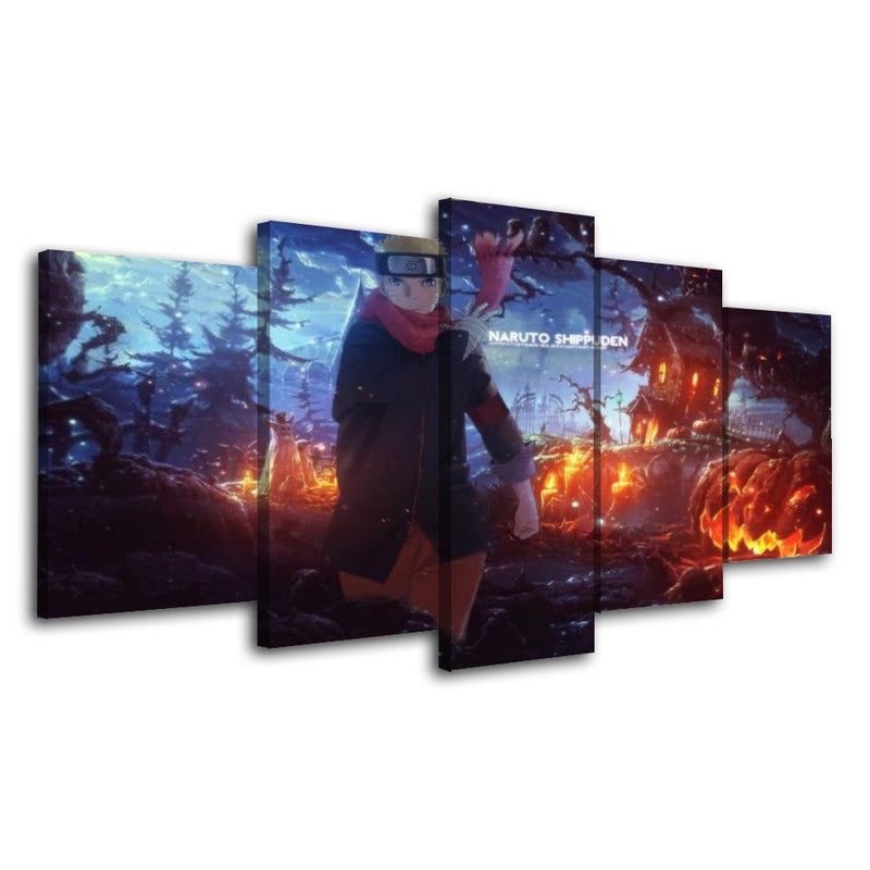 5 Piece Wall Prints Anime Painting Cartoon Canvas Posters Naruto Picture