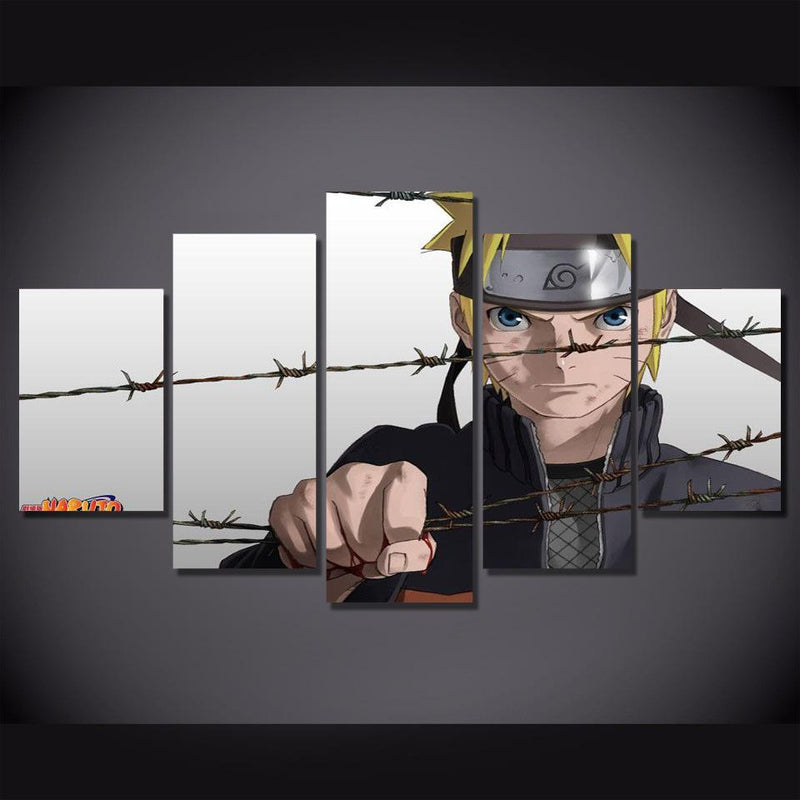 5 Piece Naruto Canvas Painting Art Poster Prints Anime Picture Art