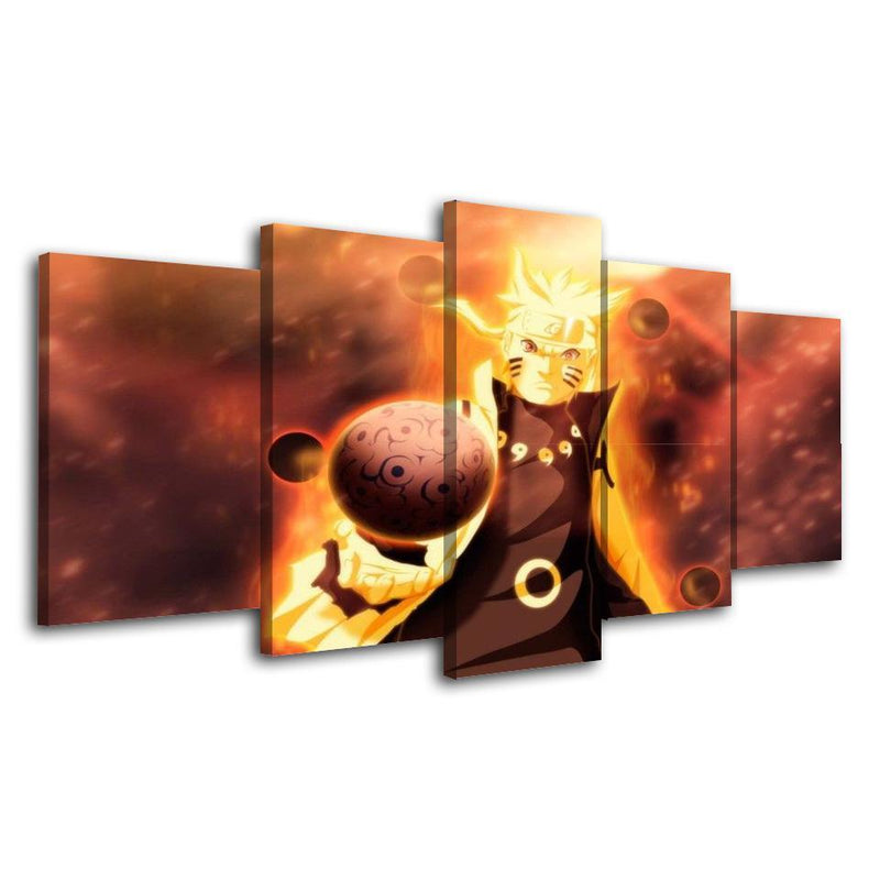 5 Piece Anime Prints Naruto Canvas Painting Art Poster Picture Art