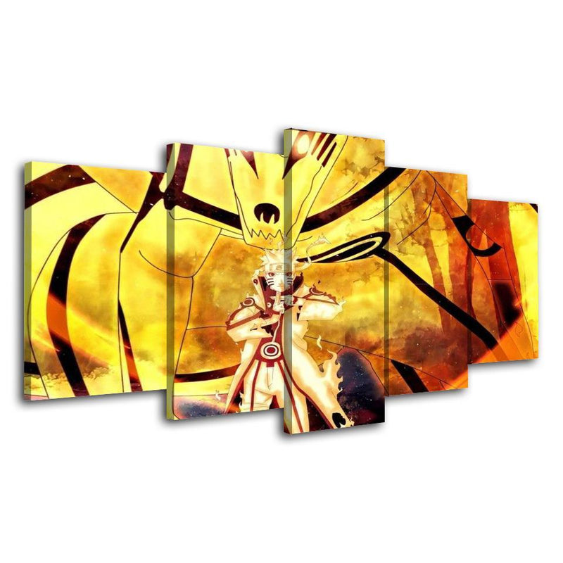 5 Piece Wall Painting Anime Prints Naruto Art Poster Picture Art Canvas