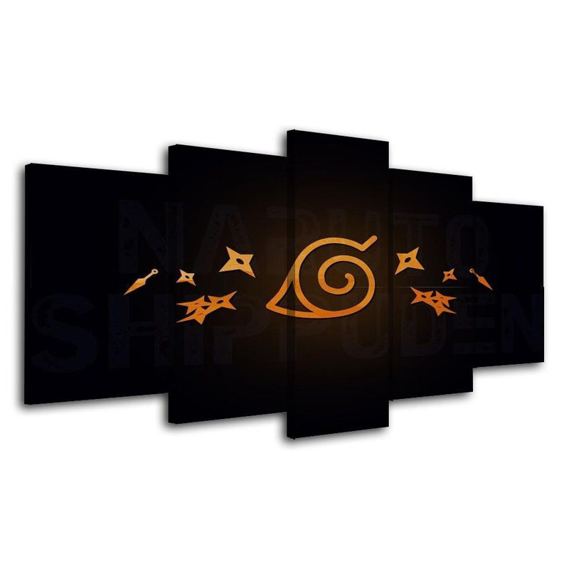 5 Piece Wall Painting Anime Poster Picture Art Prints Naruto Art Canvas