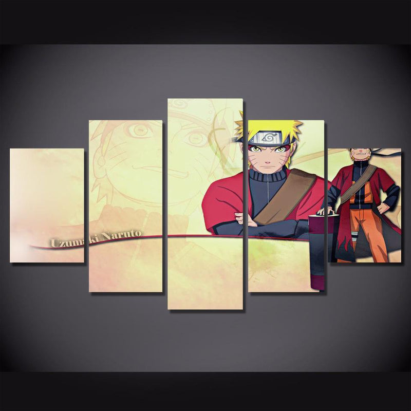 5 Piece Wall Painting Anime Poster Canvas Picture Art Prints Naruto