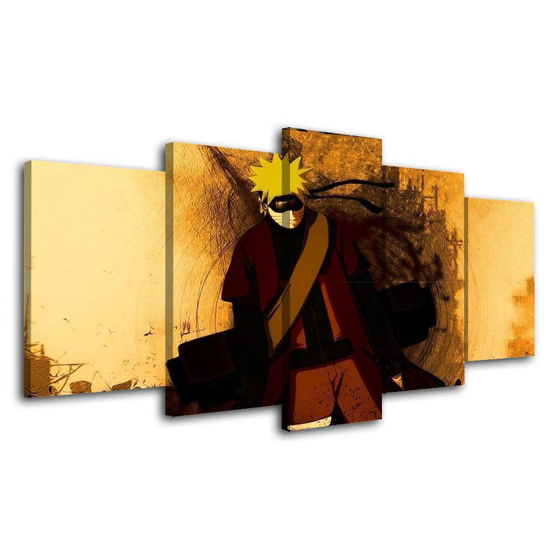 5 Piece Wall Art Anime Poster Canvas Picture Prints Naruto Painting