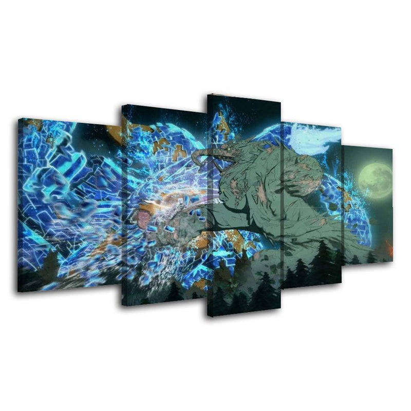 5 Piece Wall Art Anime Poster Canvas Picture Naruto Painting Prints