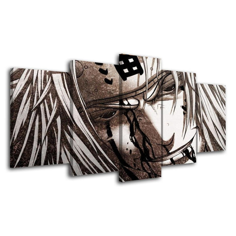 5 Piece Wall Art Prints Naruto Canvas Painting Anime Poster Picture Home Decor