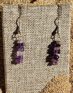 Amethyst Chip Earring