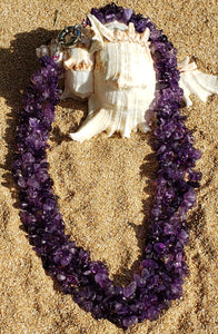 Amethyst Fish Net Chip Necklace