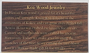 Koa Wood & Abalone Shell Plumeria Necklace