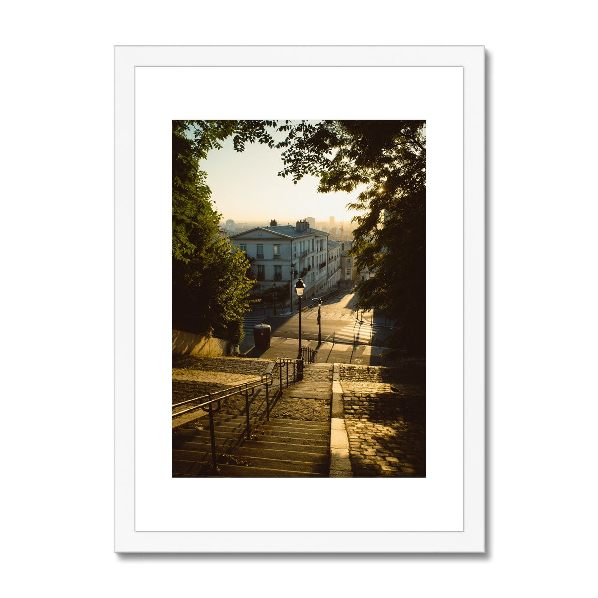 Montmartre, at sunrise is never too much - Framed & Mounted Print