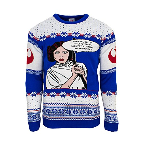Official Star Wars Princess Leia Christmas Jumper/Ugly Sweater