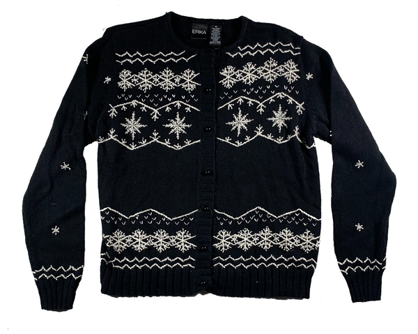 Black Winter Pattern Ugly Christmas Sweater