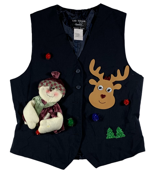 Blue Ugly Christmas Vest