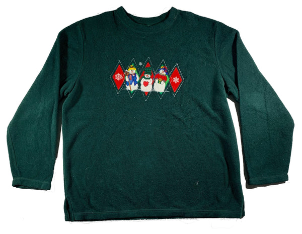 Green Snowman Ugly Christmas Sweater