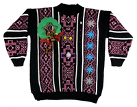 Purple Pattern Ugly Christmas Sweater