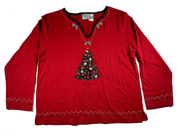 Red Christmas Tree Ugly Sweater