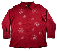 Red Snowflake Ugly Christmas Shirt