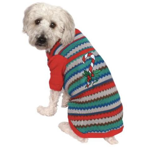 Candy Cane Ugly Christmas Pet Sweater