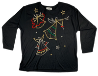 Vintage Black Angel Ugly Christmas Sweater