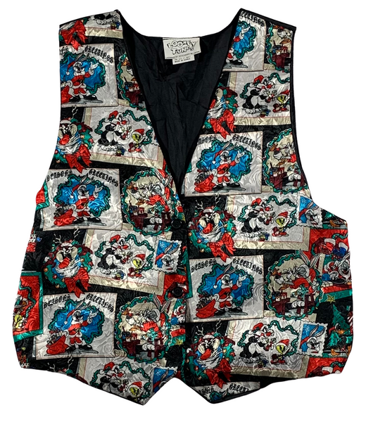 Vintage Looney Toons Ugly Christmas Vest