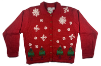 Vintage Red Christmas Tree Ugly Sweater