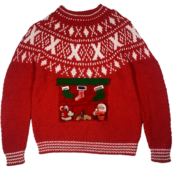 Vintage Red Ugly Christmas Sweater