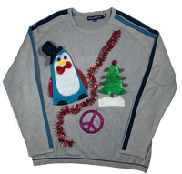 Vintage Ugly Christmas Sweater Penguin