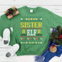 Sister Elf Christmas Sweatshirt