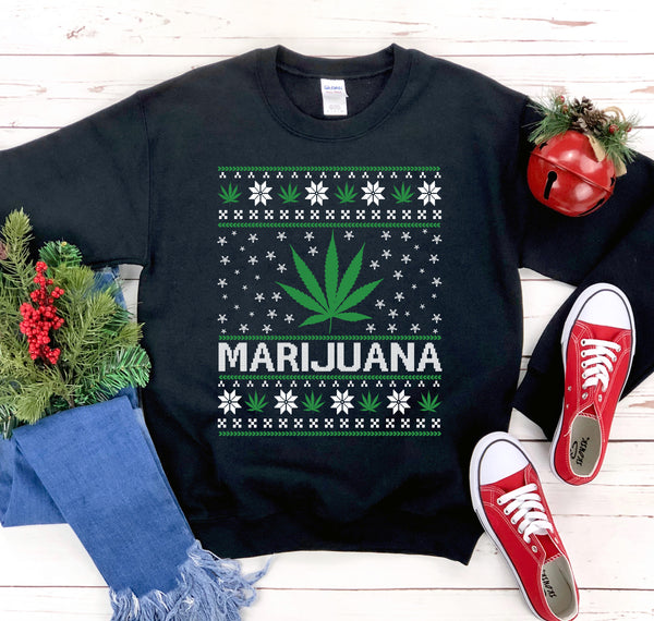 Marijuana Christmas Sweater