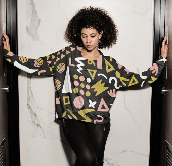 Memphis Pattern Abstract Sweatshirt