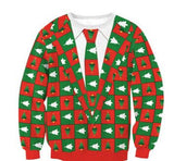 Merry Christmas Multi-Pattern Sweater
