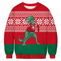 Dinosaur Ugly Christmas Sweater